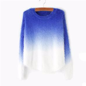 fuzzy ombre sweater color options