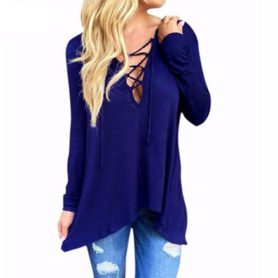 Lace up hoodie top 3 colors