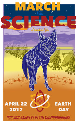 March for Science Santa Fe - Official Commemorative Poster