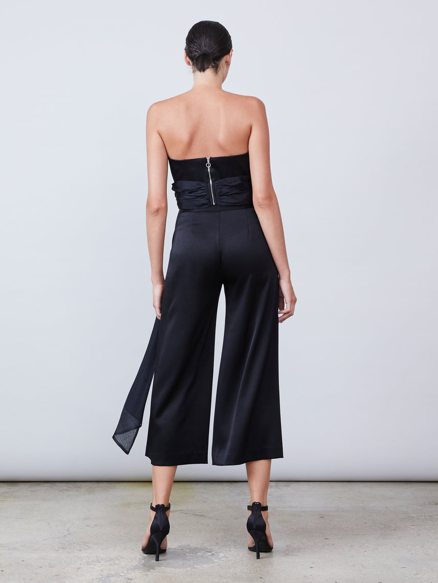 Satin cropped flare pant Alternate