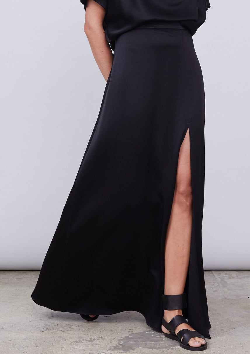 Arrowe Satin Maxi Skirt