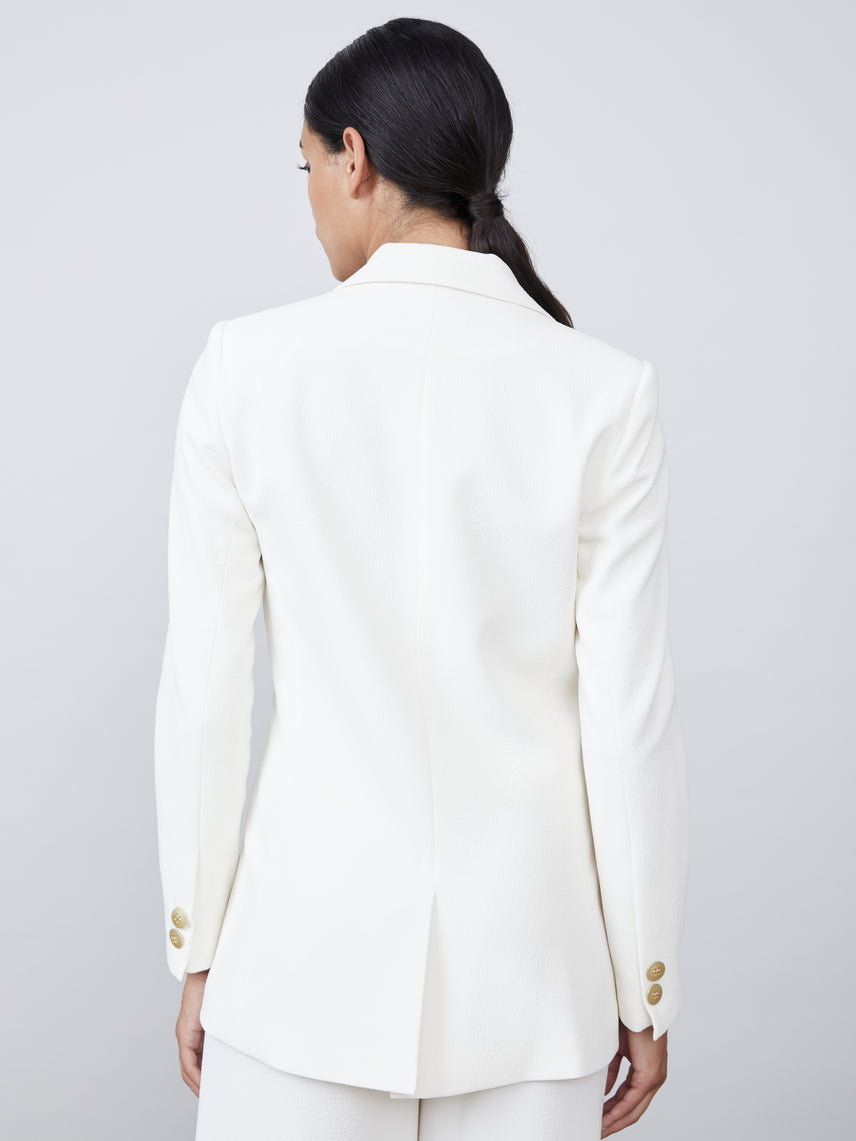Single gold button front closure blazer Alternate