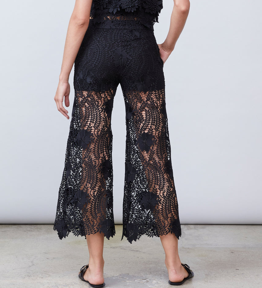 Frances Cropped Lace Pant