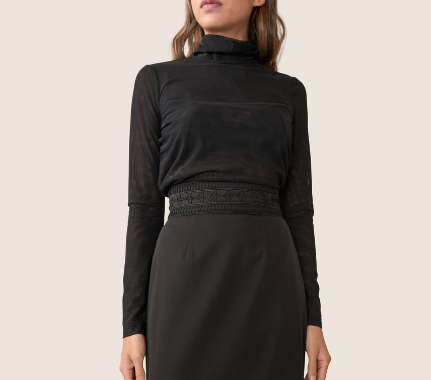Raelyn Mesh Turtleneck