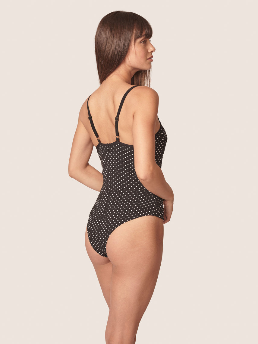 Retro polka dot bustier bodysuit Alternate