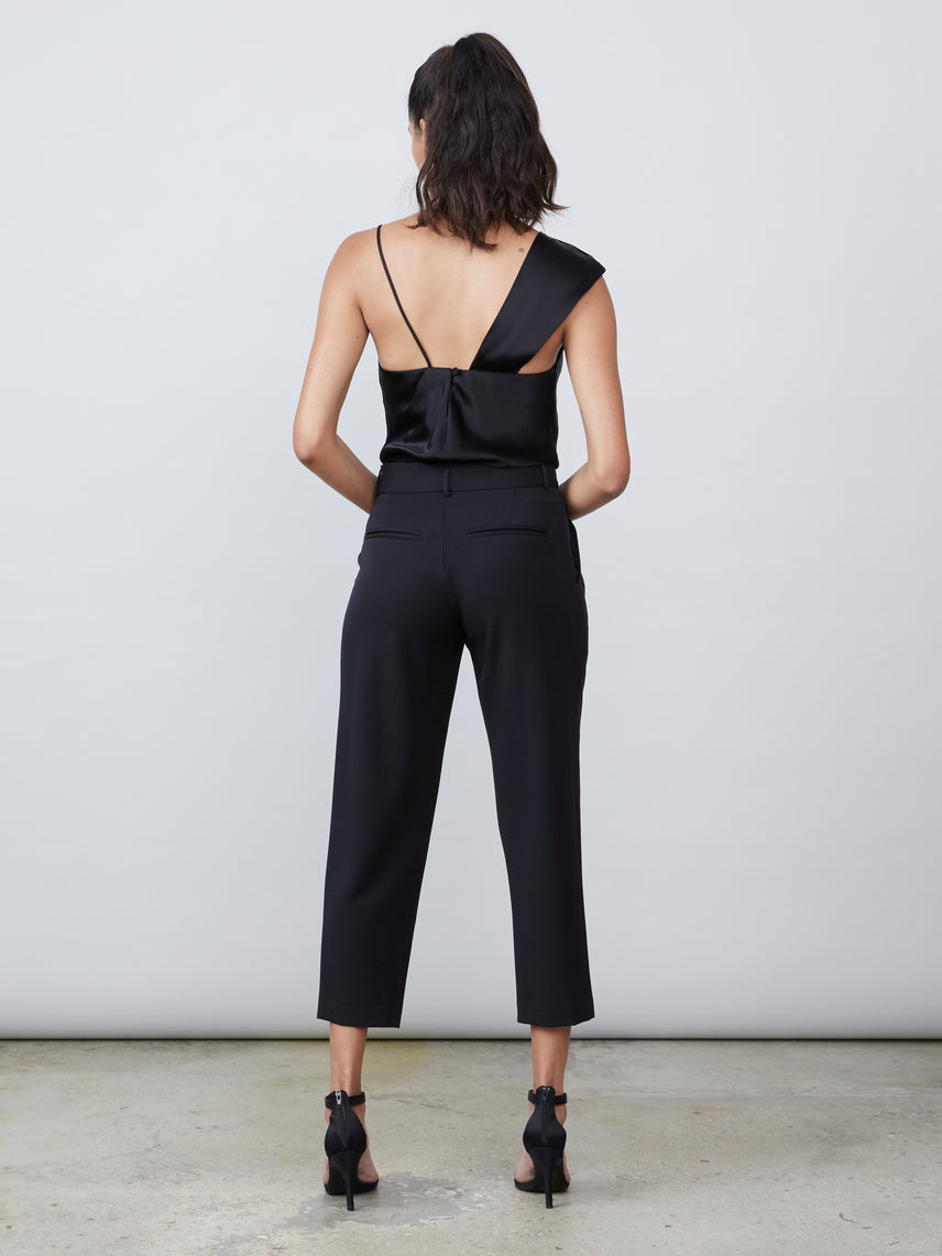 Cropped pleated pant Alternate