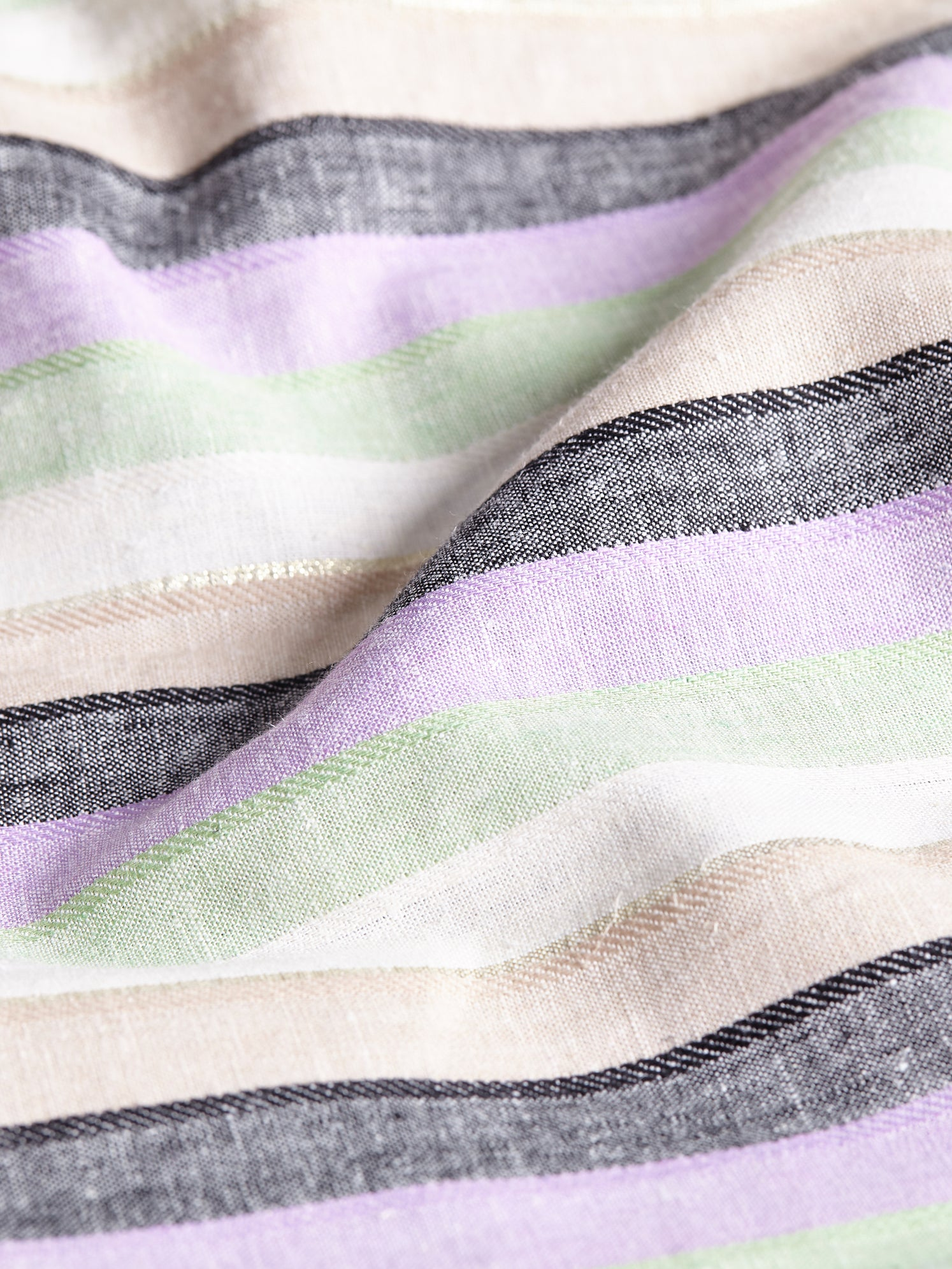 Linen stripe fabric