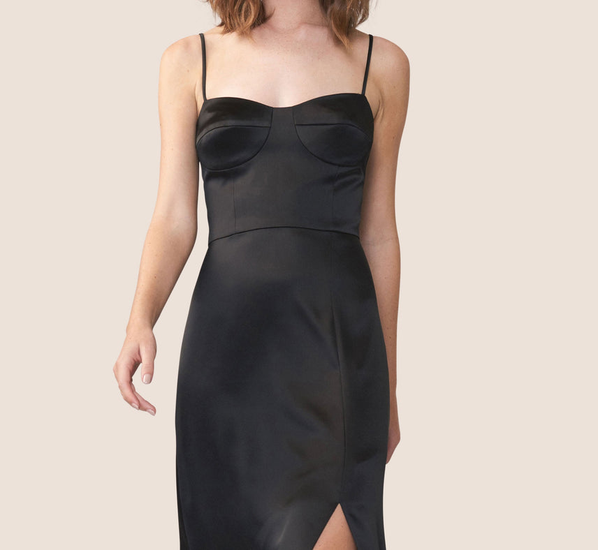 Willow Satin Bustier Dress