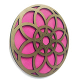 Flower Mandala Pink and Gold