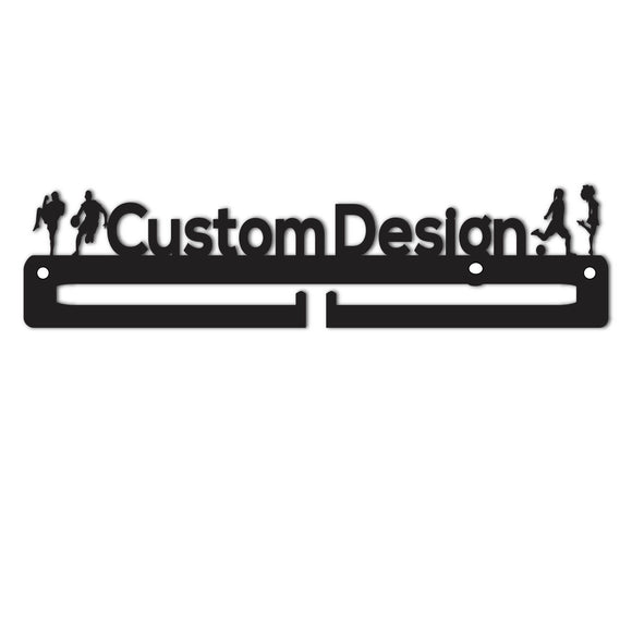 CUSTOM Text with Graphics Medal Holder