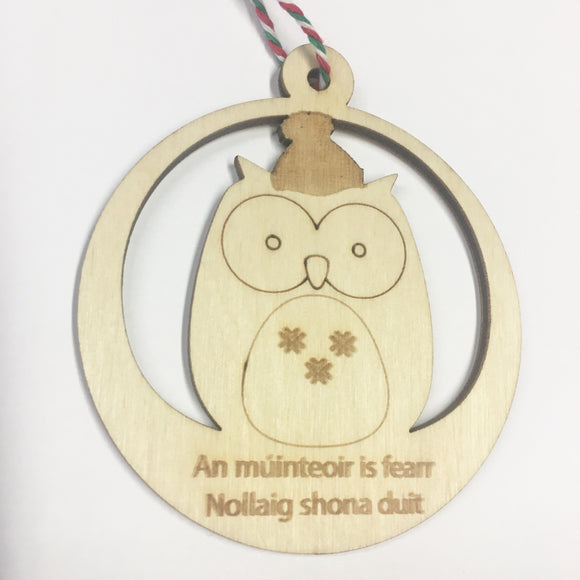 Mùinteoir - Personalised Owl Decoration