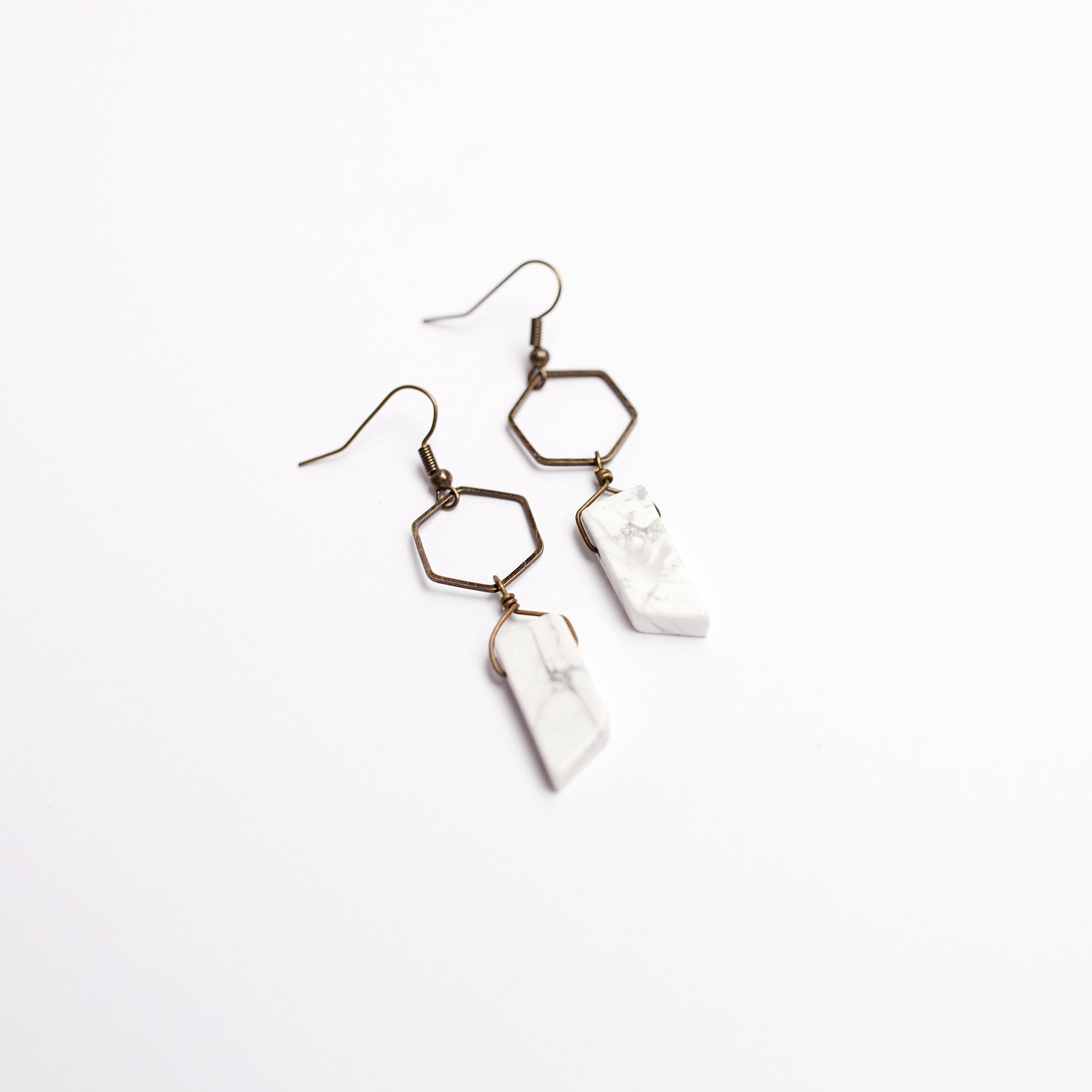 earrings hexagon silver products london pave mini hoop orelia