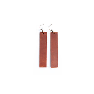 Leather Bar Drop Earrings - Newport Edge
