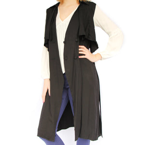 Sleeveless Double Breasted Duster - Newport Edge