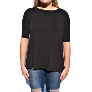 Ruffle Hem High Low Tunic - Newport Edge