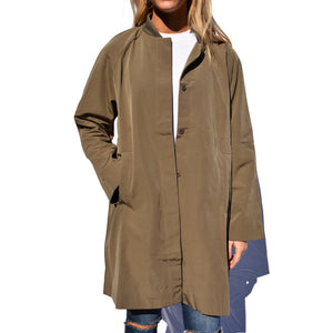 Baseball Collar Long Jacket - Newport Edge