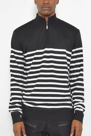 Load image into Gallery viewer, QUARTER ZIP STRIPE PULLOVER