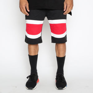 Load image into Gallery viewer, Red Stripe Moto Shorts
