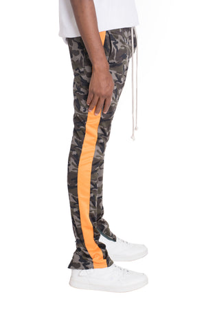 Load image into Gallery viewer, NEUTRAL CAMO TRACK PANTS- ORANGE