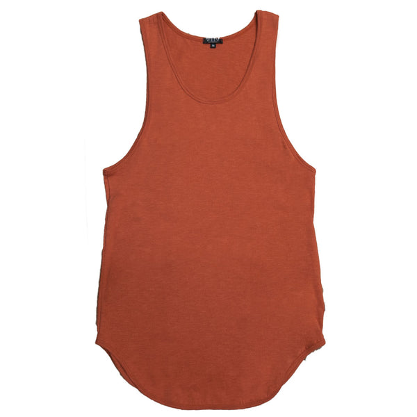 Rust Scoop Extended Tank Top