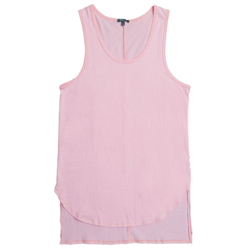 Peach Hi-Low Extended Tank Top