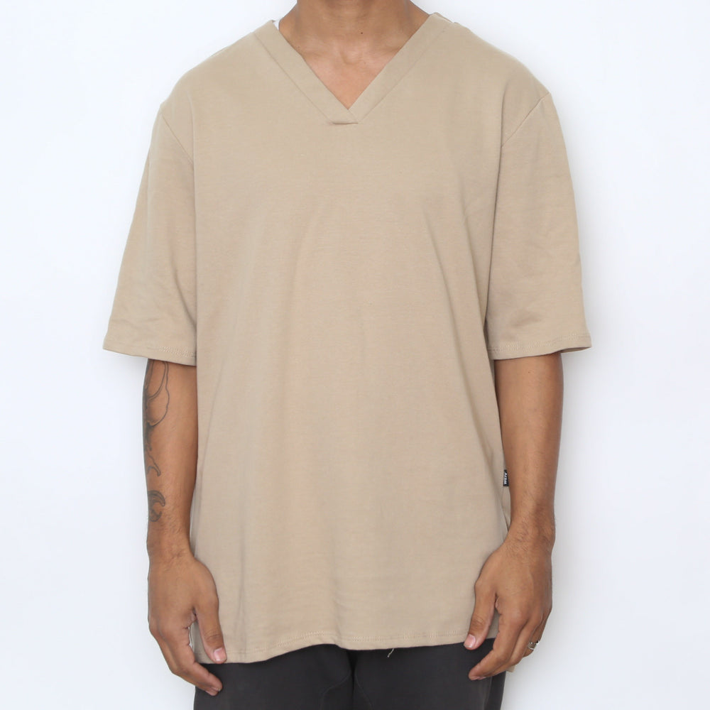 Load image into Gallery viewer, Sand V Neck Tee