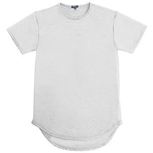Load image into Gallery viewer, QUILTED SCALLOP TEE- WHITE