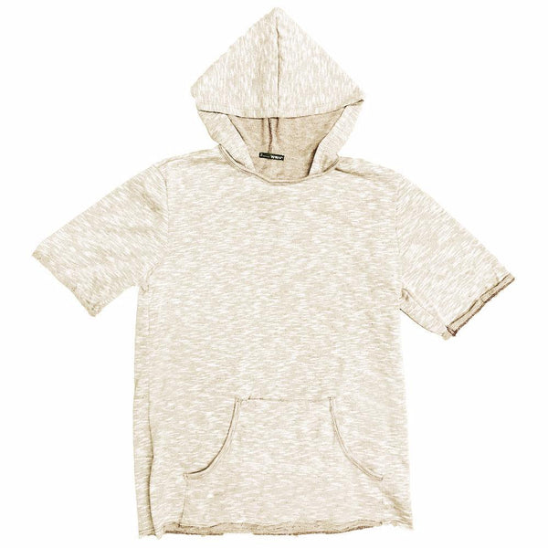 TERRY CLOTH HOODIE TEE- CREAM