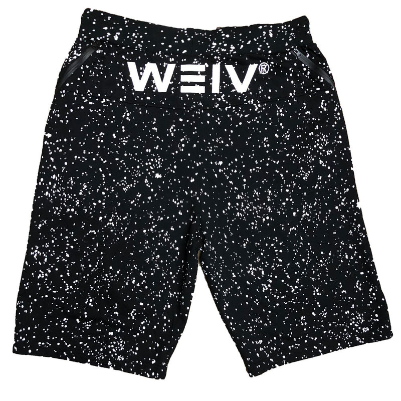 Black Splatter Logo Shorts