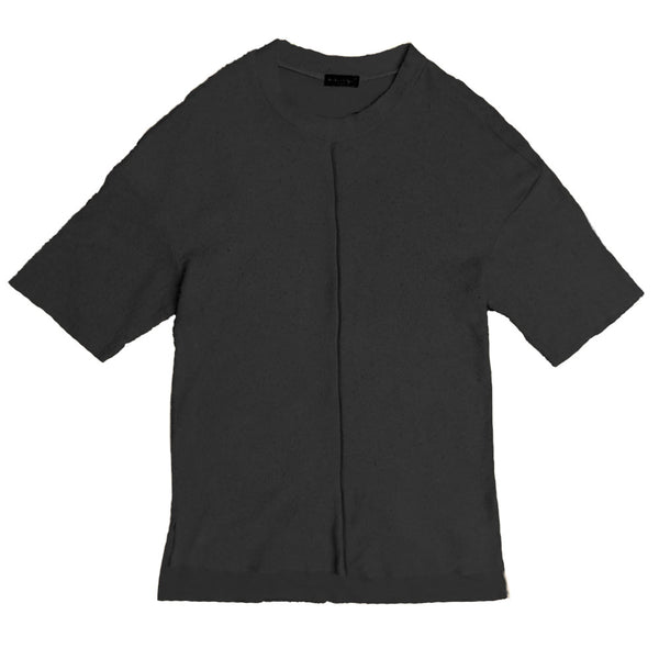 FRENCH TERRY TEE- CHARCOAL