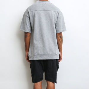 Load image into Gallery viewer, REVERSE FRENCH TERRY TEE- GREY