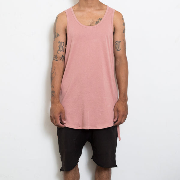 Dark Pink Hi-Low Longline Tank Top