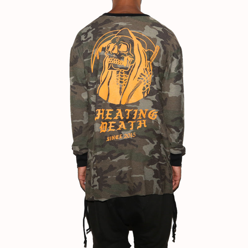CHEATING DEATH CAMO LONG SLEEVE