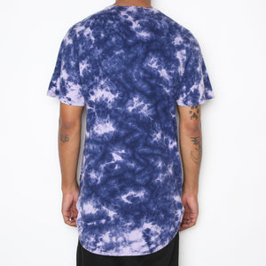 Load image into Gallery viewer, TYE DYE SCALLOP TEE- PLUM