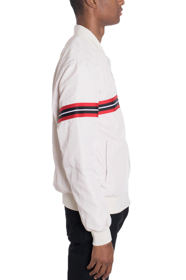 SHIELD BOMBER- WHITE