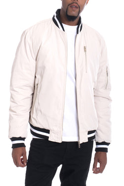 Luxury Padded Twill Jacket-CREAM