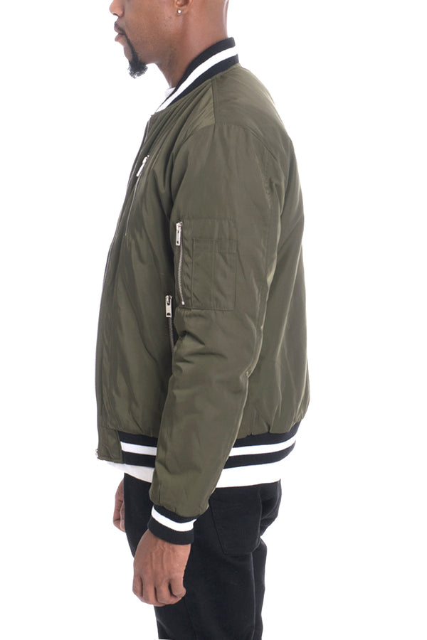 LUXE TWILL JACKET- OLIVE