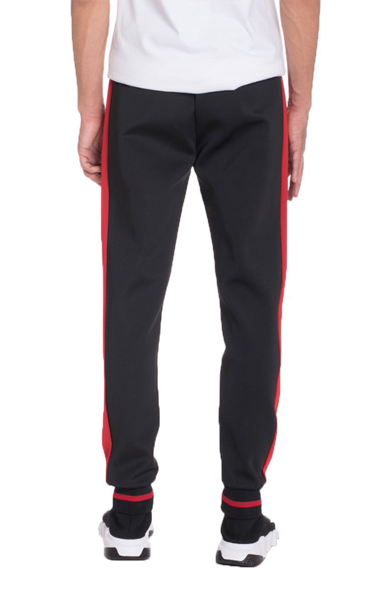 HEAVY WEIGHT TRACK PANTS- BLACK/RED