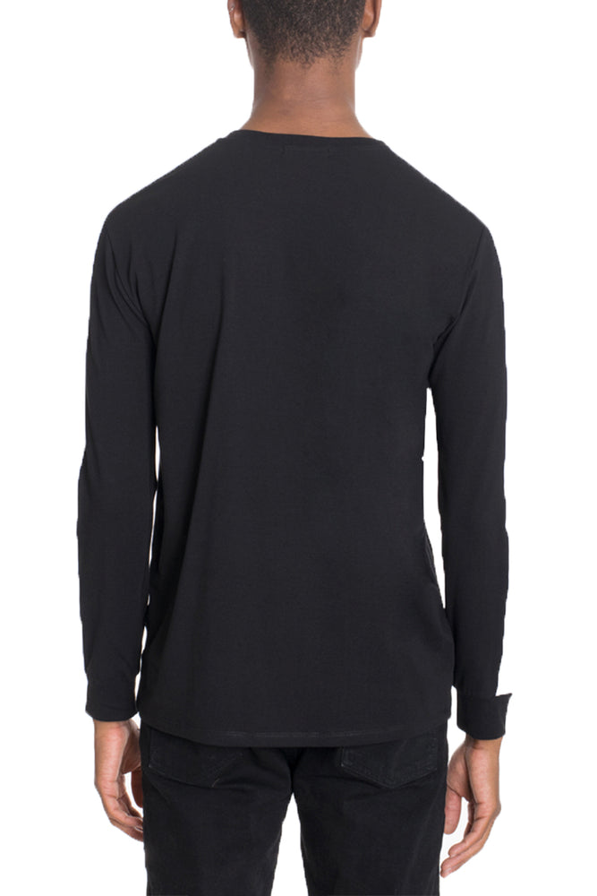 Load image into Gallery viewer, SIDE STRIPE LONG SLEEVE- BLACK/WHITE