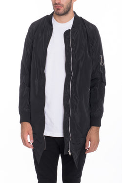 FISHTAIL BOMBER- GREY
