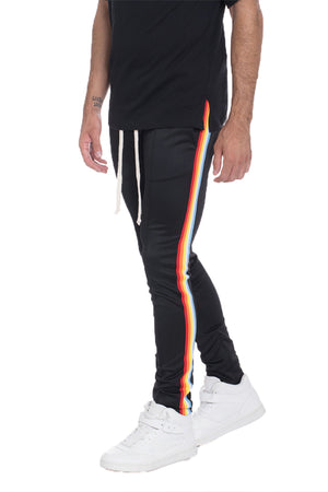 Load image into Gallery viewer, FULL RAINBOW TAPED TRACK PANTS