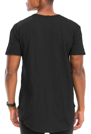 Load image into Gallery viewer, SCALLOP HENLEY SHORT SLEEVE TSHIRT