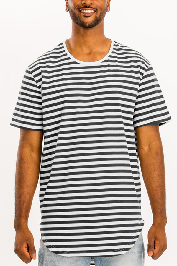 BASIC STRIPED TEE- BLACK/ WHITE