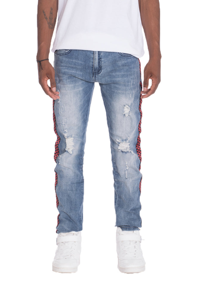 Load image into Gallery viewer, RACER DENIM- BLUE