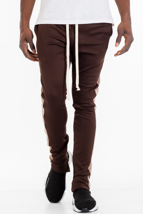 HOLIDAY TRACK PANTS- BROWN/ KHAKI