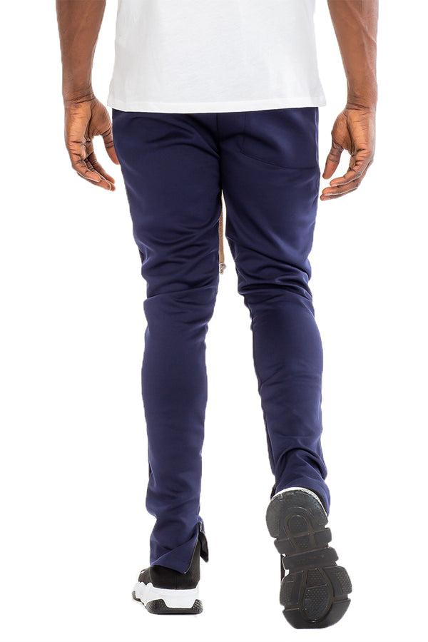 SIMPLE TRACK PANTS- NAVY