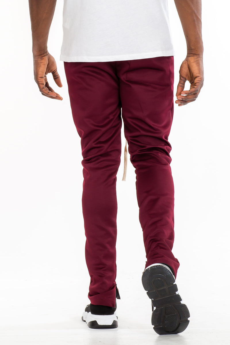 Simple Track Pants - Burgundy