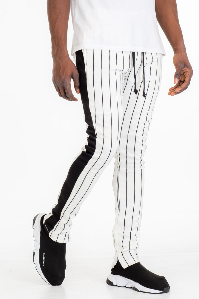 PIN STRIPE TRACK PANTS