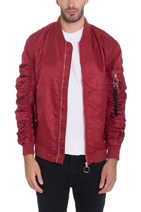 FLIGHT LINED BOMBER- BURGUNDY