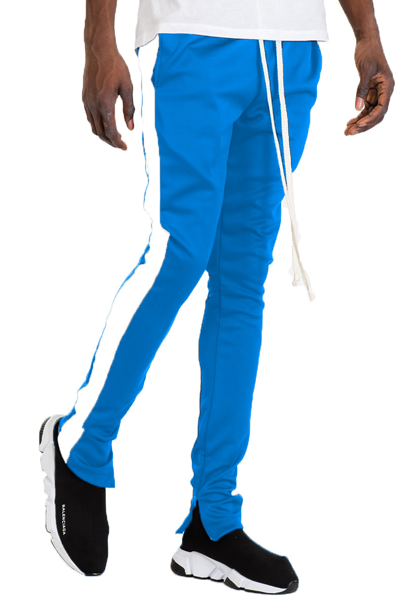 HOLIDAY TRACK PANTS- CYAN/ WHITE